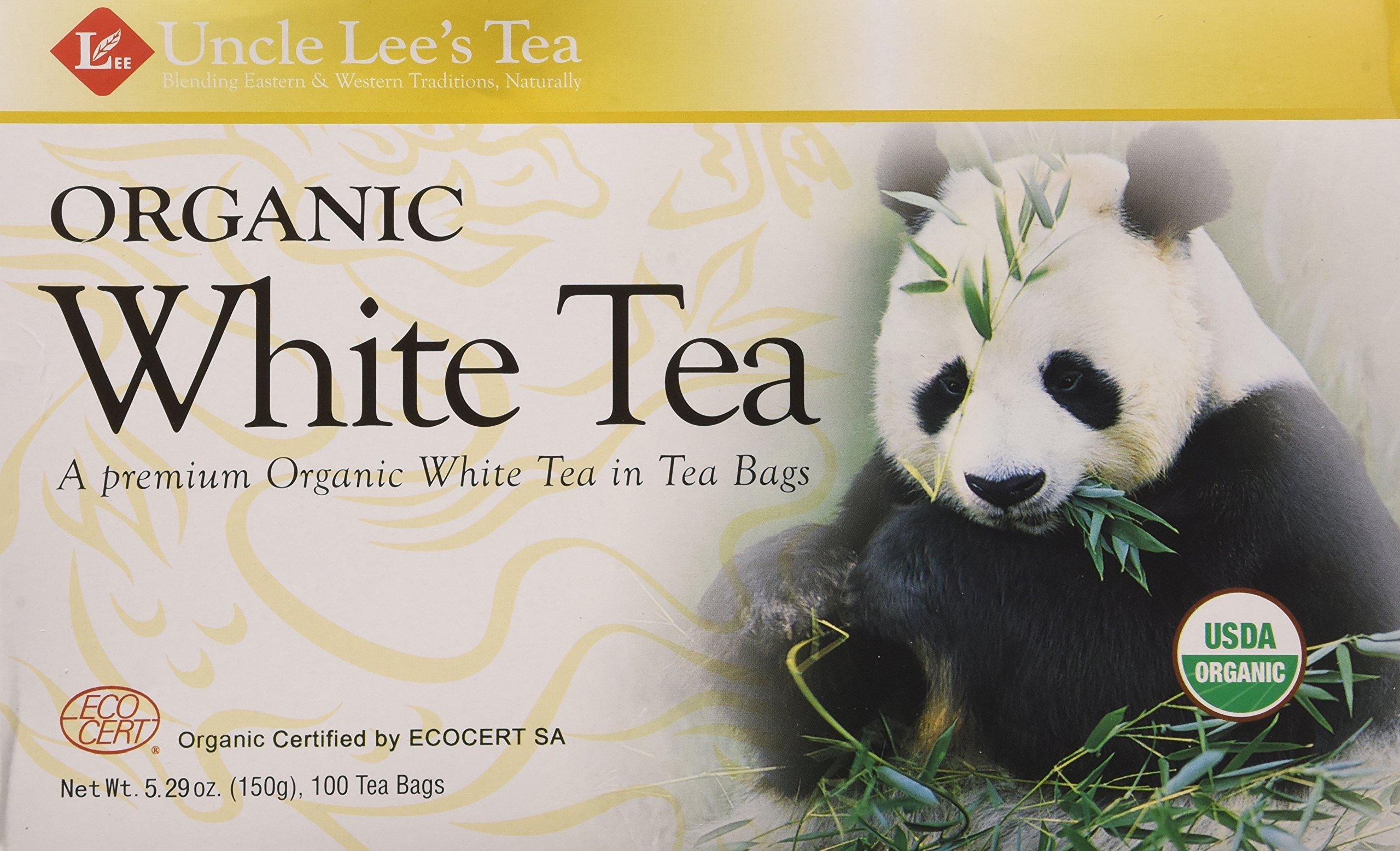 Uncle Les's Tea- Organic White Tea, premium organic White Tea in Tea Bags 100ct