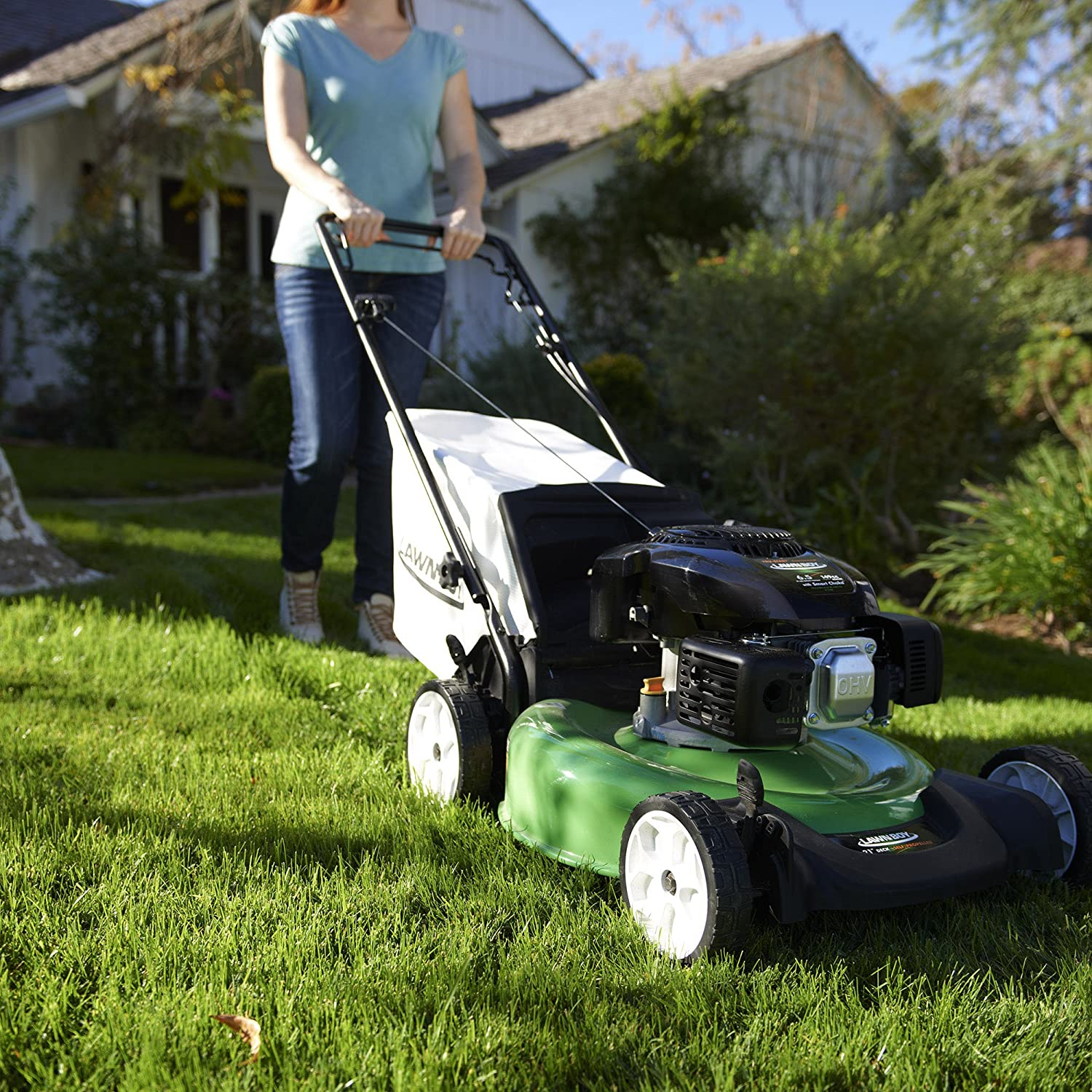 Amazon.com : Lawn-Boy 10732 Kohler XT6 OHV, Rear Wheel Drive Self Propelled  Gas Lawn Mower, 21-Inch : Garden & Outdoor