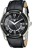 Swiss Legend Men's 10005Q-01-BB Traveler Black Stainless Steel Watch With Black Leather Band