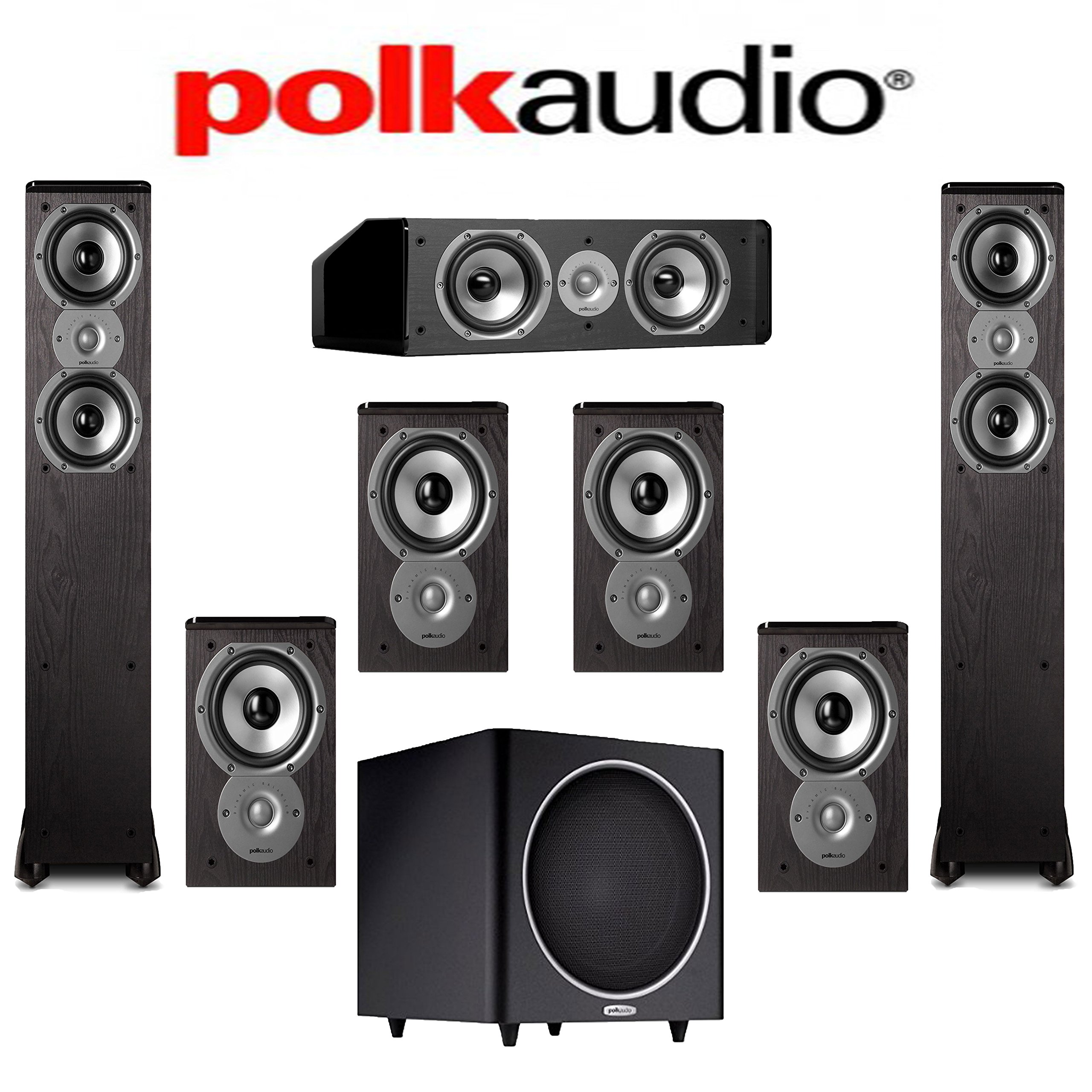 Polk Audio TSi 300 7.1 Home Theater Speaker System (TSi 300 + TSi 100 + CS10 + PSW110) by Polk Audio
