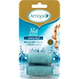 Amopé Pedi Perfect Wet & Dry Rechargeable Foot File Refills, 2 Count, Regular Coarse