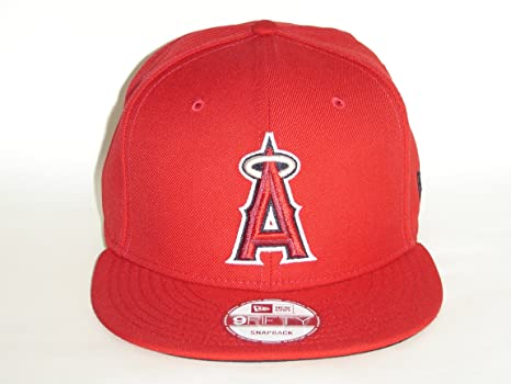 57f90e2310d Image Unavailable. Image not available for. Color  New Era MLB Los Angeles  Angels of Anaheim Red Snapback Cap 9fifty