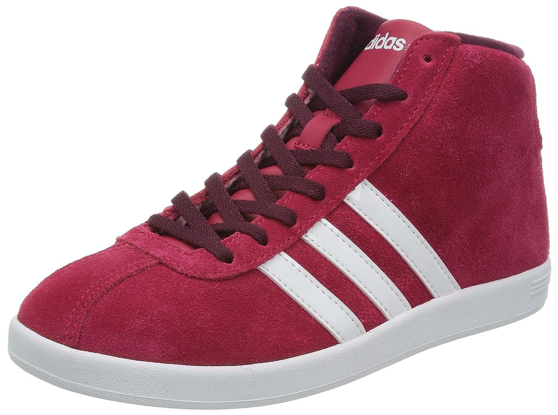 Adidas VlNeo Court MID W Schuhe Sneaker Turnschuhe Trainers rot Damen Wildleder  37 1/3 EU|Rot