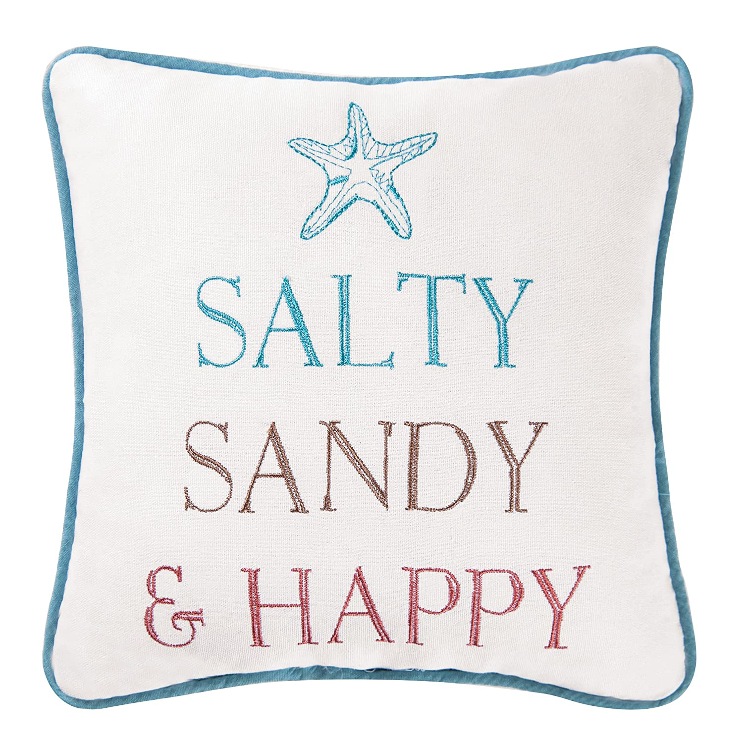 10x10 Inches, Salty Sandy And Happy Pillow