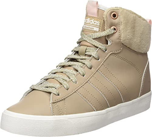 Disparidad Consejo frío  adidas Women's Cf Daily Qt WTR W Hi-Top Trainers, Black (Trace Khaki/Icey  Pink), 4 UK: Amazon.co.uk: Shoes & Bags