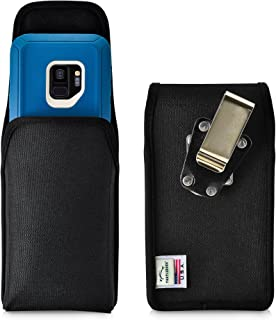 product image for Turtleback Belt Clip Case Made for Samsung Galaxy S9 with OB Defender case Black Vertical Holster Nylon Pouch with Heavy Duty Rotating Belt Clip Made in USA