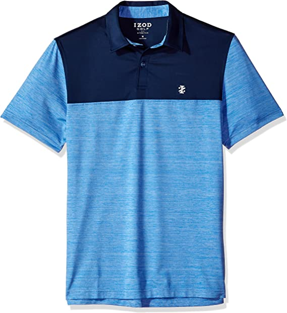 IZOD Mens Performance Golf Polo, Blue Revival, Small: Amazon.es ...