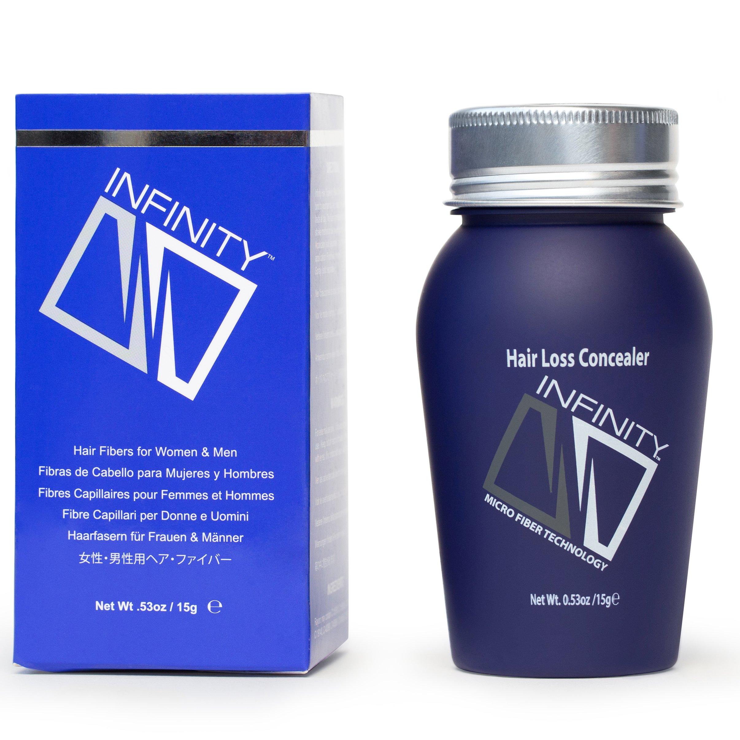 Infinity Hair Fiber - Hair Loss Concealer - Hair Thickening Fiber for Men & Women - Dark Brown, 15g by Infinity