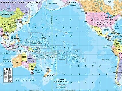 Map Of Australia Political.Amazon Com Academia Maps Australia Oceania Wall Map Fully