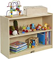 ECR4Kids 2-Shelf Storage Cabinet with Back, GREENGUARD Gold Certified Kids' Furniture, Wood Bookshelf Organizer for Kids, Chi