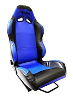 NETAMI NT-5102 Racing Seat with Carbon Fiber texture Blue/Black