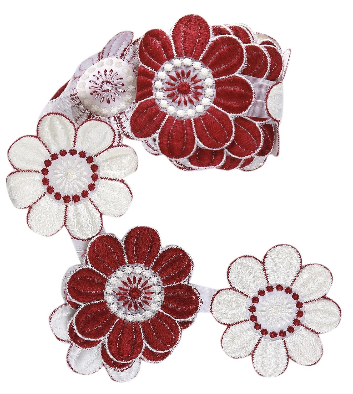 Hermoso patrón bordado floral patrón de encaje de estilo vintage ...