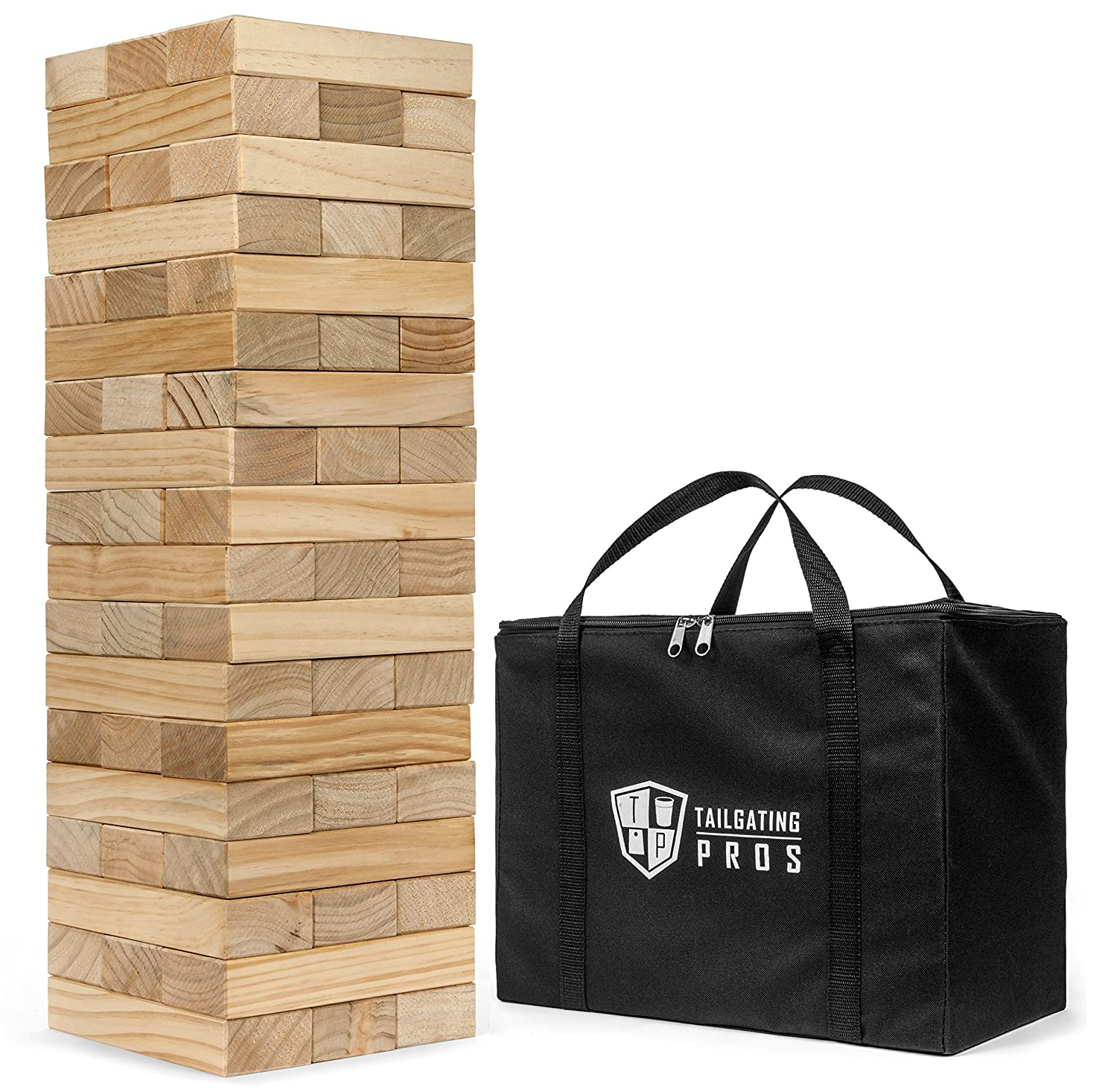 Tailgating Pros Giant Toppling Timbers Premium Version with Carrying Case