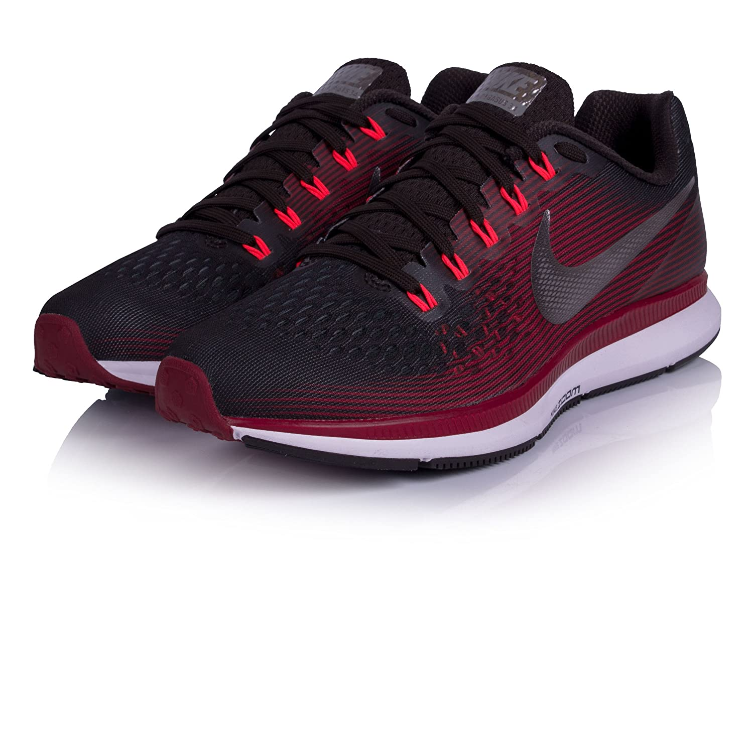 NIKE Women's Air Zoom Pegasus 34 Running Shoe B0721RP8TP 9 B(M) US|Shadow Brown/Metallic Pewter/Rush Maroon