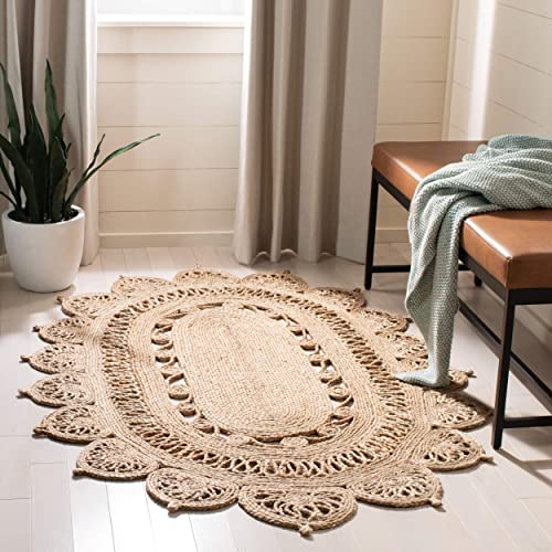 Safavieh Natural Fiber Collection NFB251A Hand-woven Jute Area Rug