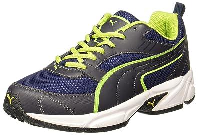 25f458d4b47 Puma Men s Atom III DP Peacoat-Periscope-Limepunch Running Shoes - 7 ...