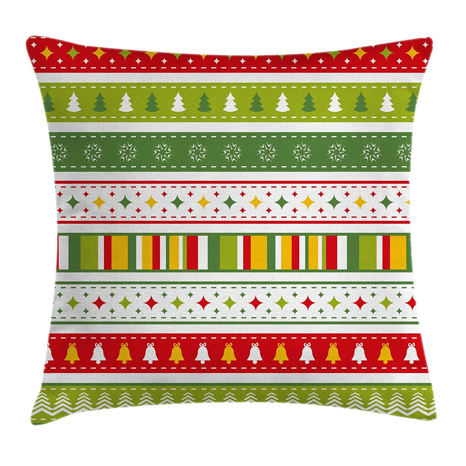 Decorative Square Accent Pillow Case Tribal African Pattern on Ritual Masks Ethnic Accessories Indigenous Culture 18 X 18 Inches Ambesonne Red and Brown Throw Pillow Cushion Cover Multicolor min/_50905/_18x18
