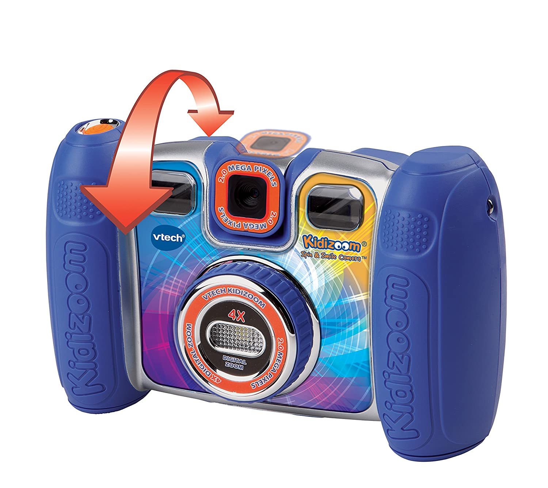 Camera Vtech Kids Camera amazon com vtech kidizoom spin and smile camera blue toys games
