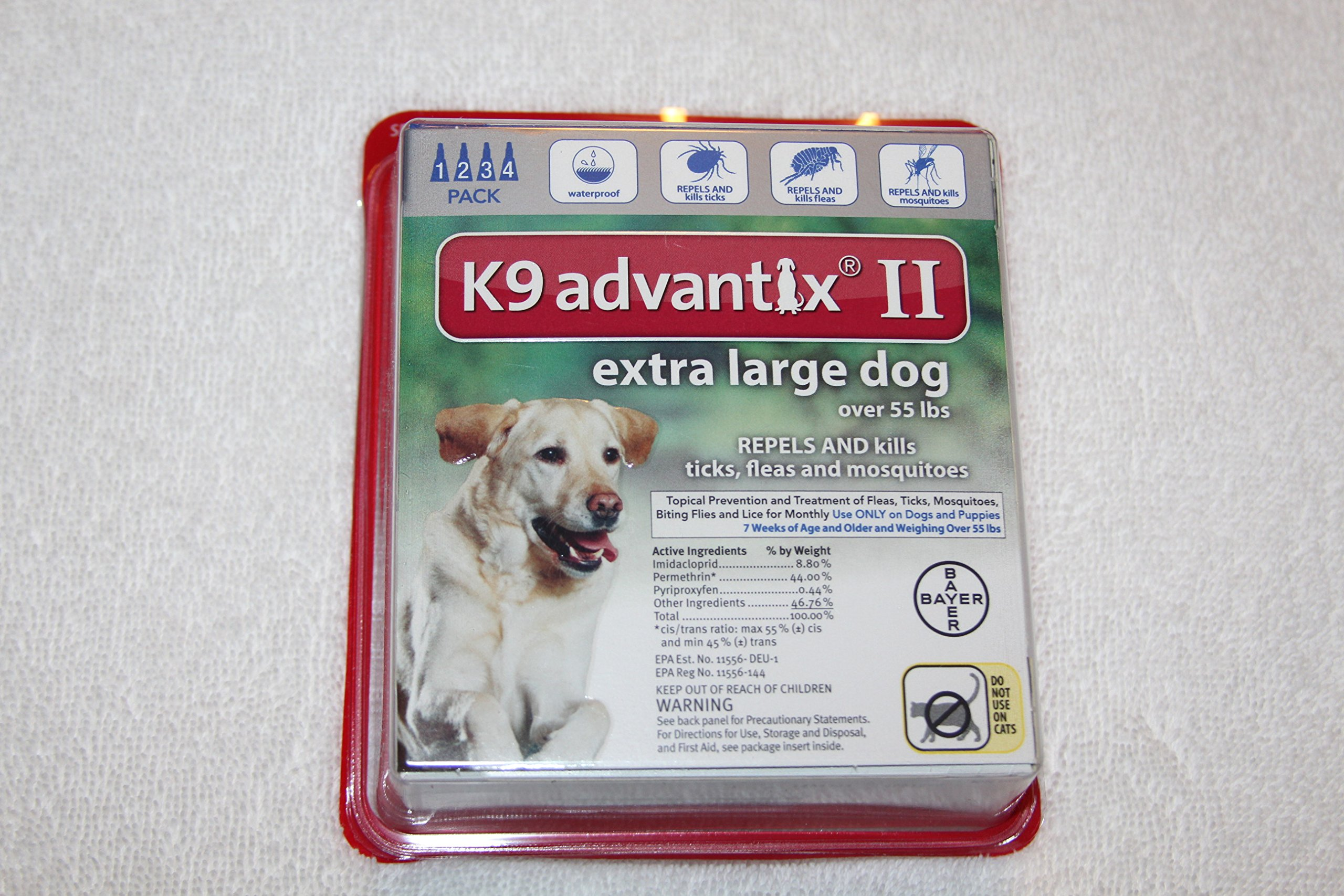K9 advantix II for extra large dogs over 55 lbs 4 pack