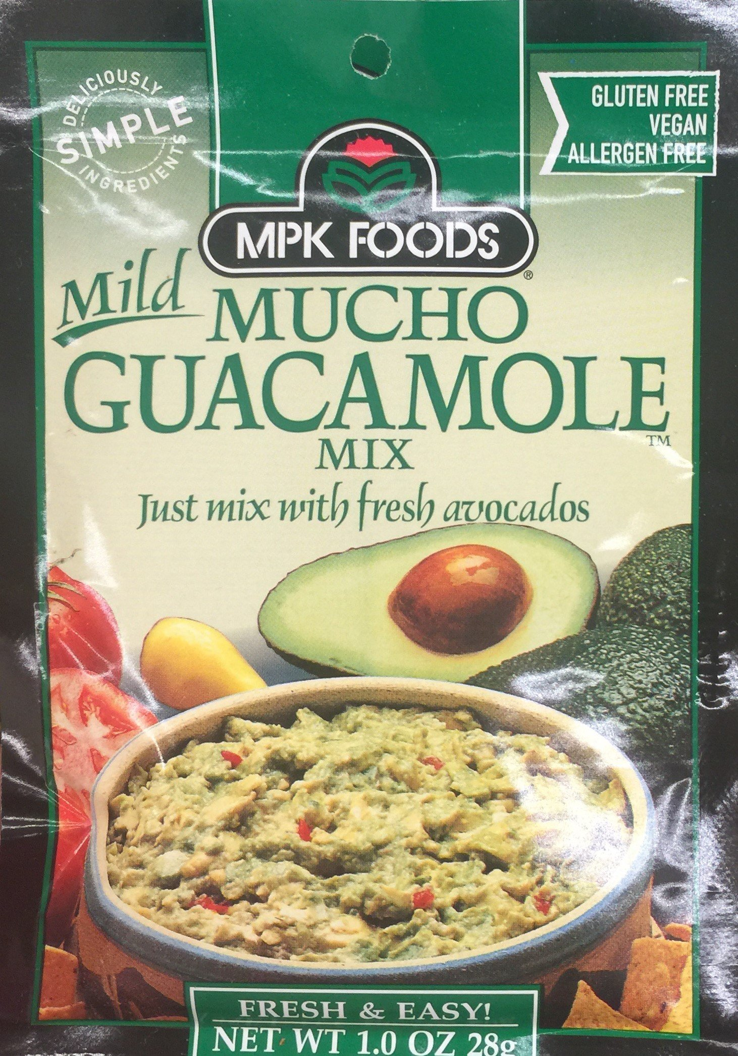 1oz MPK Foods Mucho Guacamole Mix, Mild (Pack of 2)