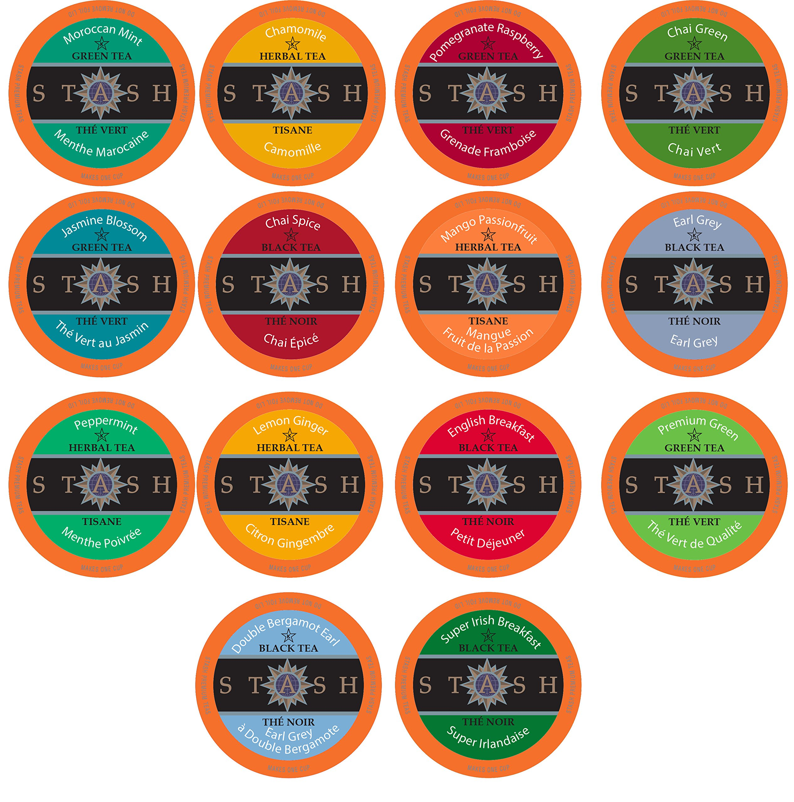 Stash Tea Variety Pack Single-Cup Tea for Keurig K-Cup Brewers, 40 Count by Stash Tea