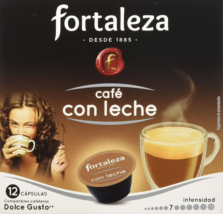 Café FORTALEZA - Cápsulas de Café Con Leche Compatibles con Dolce ...