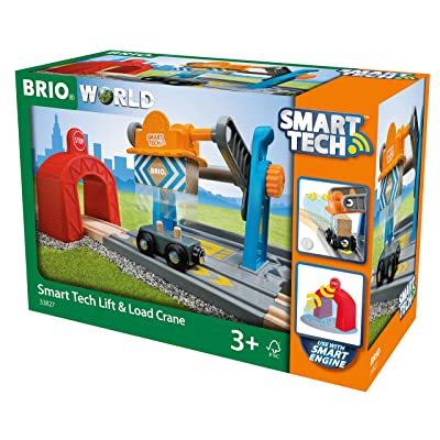 Brio 33827 World-Smart Tech Railway-Harbor Crane: Toys & Games