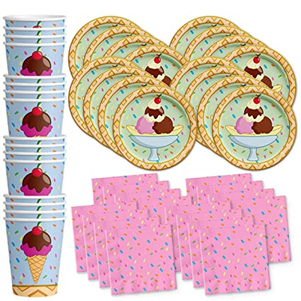 b4146e0b93c Image Unavailable. Image not available for. Color  Ice Cream Shop Birthday Party  Supplies ...