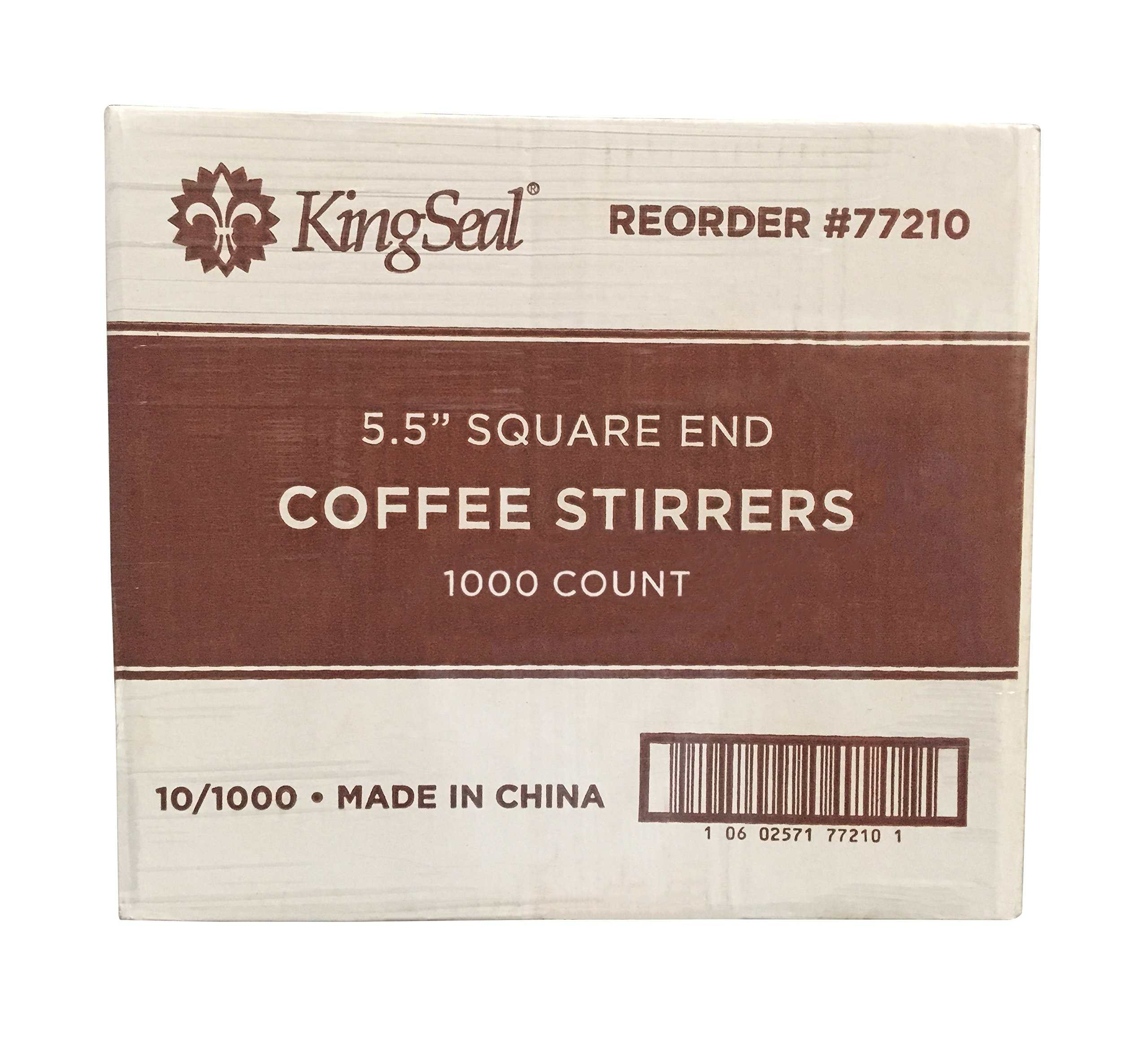 KingSeal Natural Birch Wood Coffee Stirrers, Stir Sticks, 5.5 Inch, Square End - 10 Packs of 1000 per Case (10,000 pcs total) by KingSeal (Image #5)