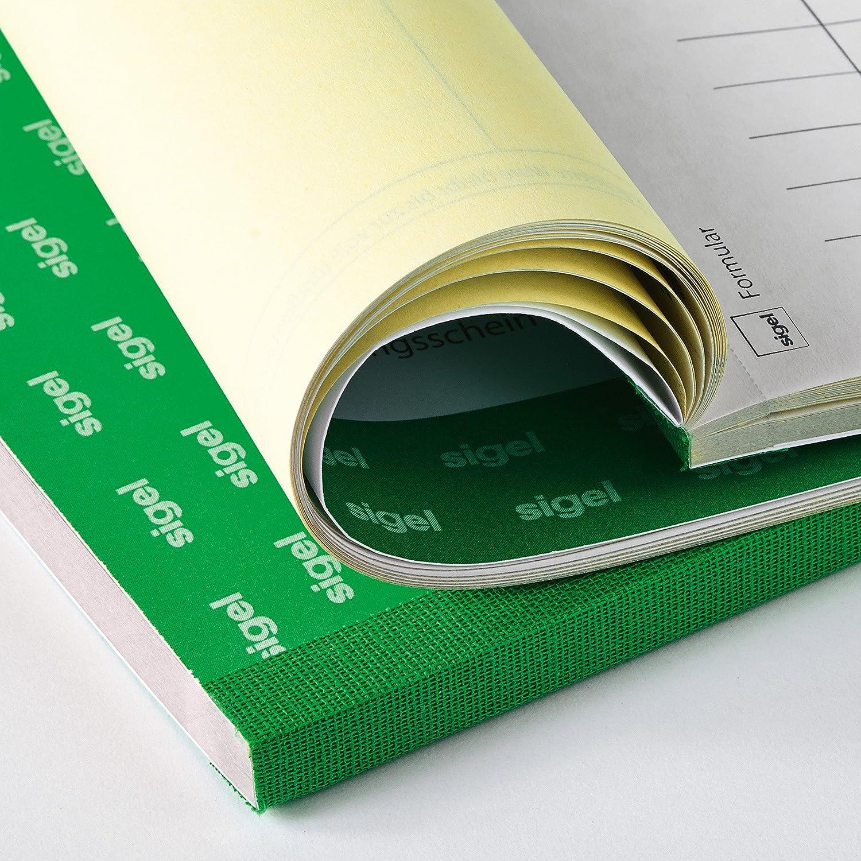 2 fogli con ricevuta di ricezione Sigel SD013 formato A6 2 blocchi da 3 x 40 fogli 1/° e 2a Foglio stampati Blocco di bolle di consegna in carta copiativa