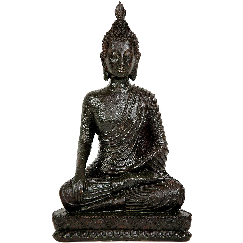 "Oriental Furniture 10"" Laotian Sitting Buddha Statue"