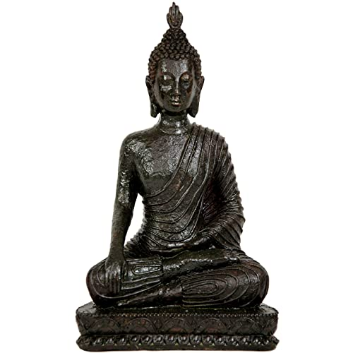 Oriental Furniture 10 Laotian Sitting Buddha Statue