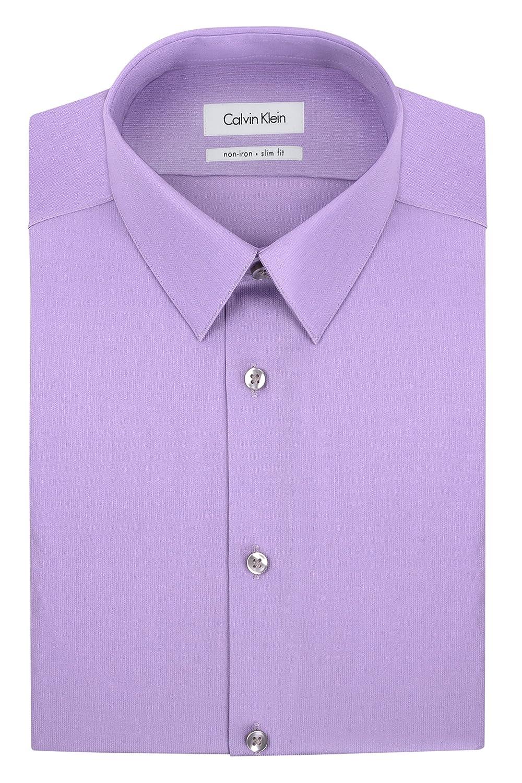 Calvin Klein Men's Non-Iron Slim-Fit Striped Button-Front Shirt 33K1313