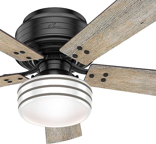 Hunter Fan 52 inch Casual Matte Black Finish Outdoor Ceiling Fan