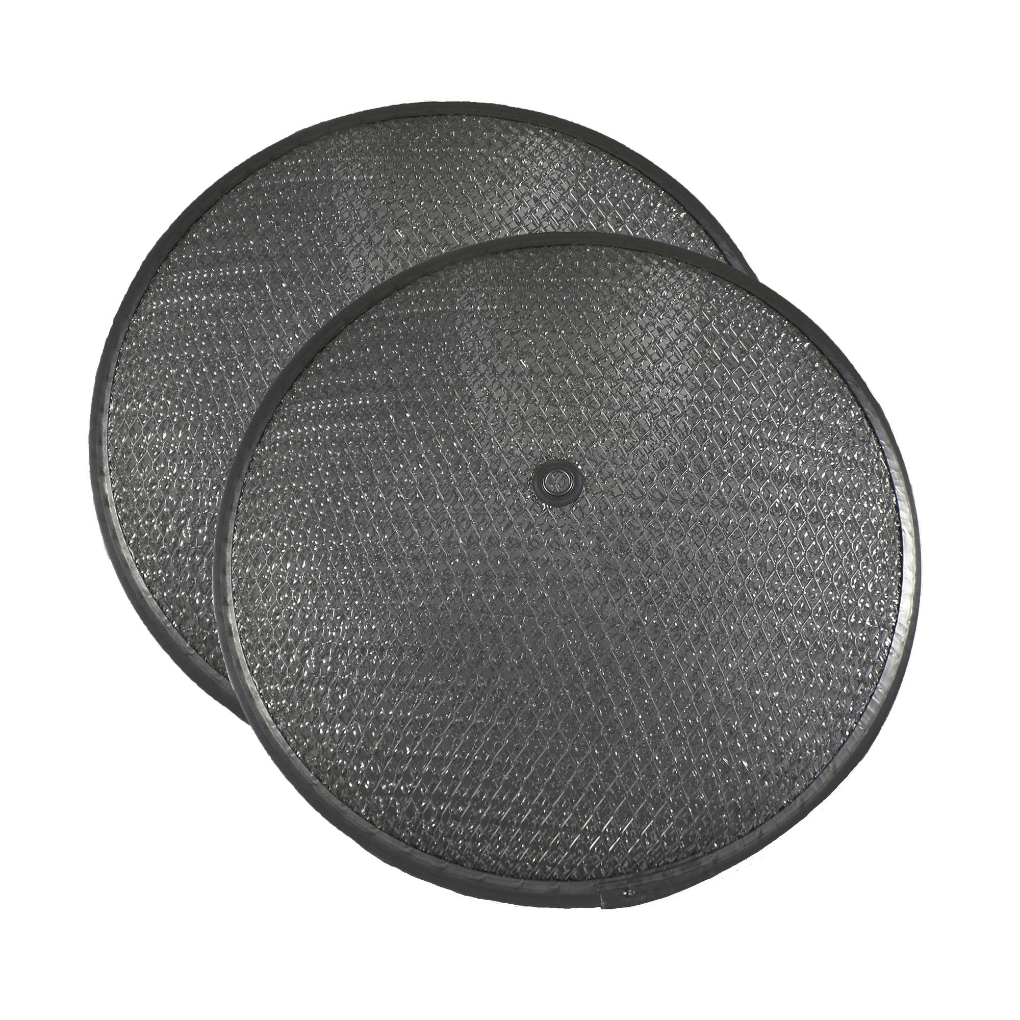 2 PACK Air Filter Factory 10-1/2 x 1-1/4 RISE WITH CENTER HOLE Range Hood Aluminum Grease Dome Filters AFF44-1D