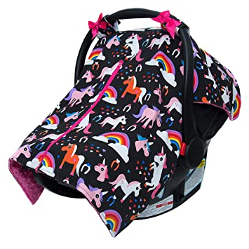 Jlika Baby Car Seat Canopy Cover Infant Canopy Cover For Newborns Infants Babies Girls Boys