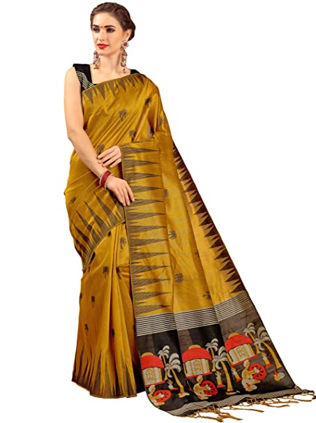 498eec91cd4a5f EthnicJunction Women s Jamdhani Silk Saree With Blouse Piece(EJ1202-5003