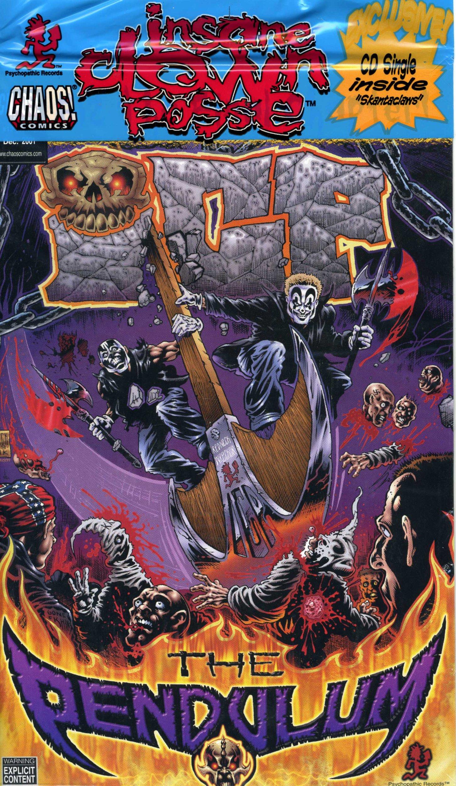 INSANE CLOWN POSSE The Pendulum #12b Comic & CD NEW ICP pdf epub