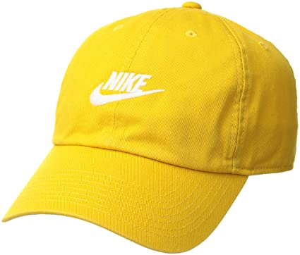 detailed look a567b ee990 Nike H86 Futura Washed Cap, Yellow Ochre (White), One size