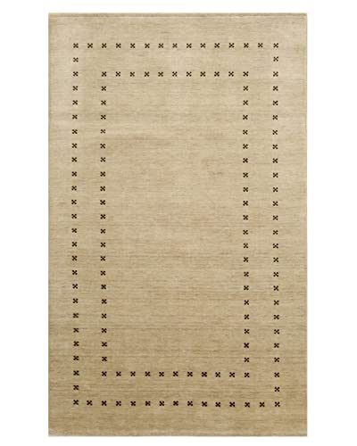 Well Woven Salma Cream Beige Medallion Lattice Pattern Area Rug 4×6 3 11 x 5 3
