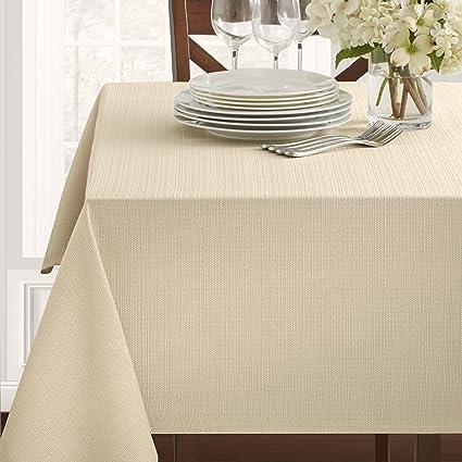 amazon com benson mills textured fabric tablecloth 60 x 120 rh amazon com