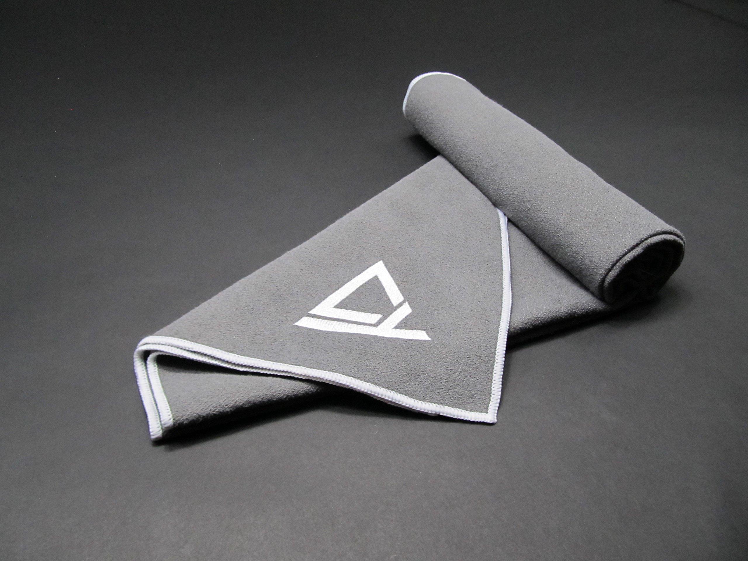 Crush Hot Yoga Towel - Non-Slip - Absorbent - Rubberized - 100% Microfiber - Washable - Soft - Perfect for Bikram