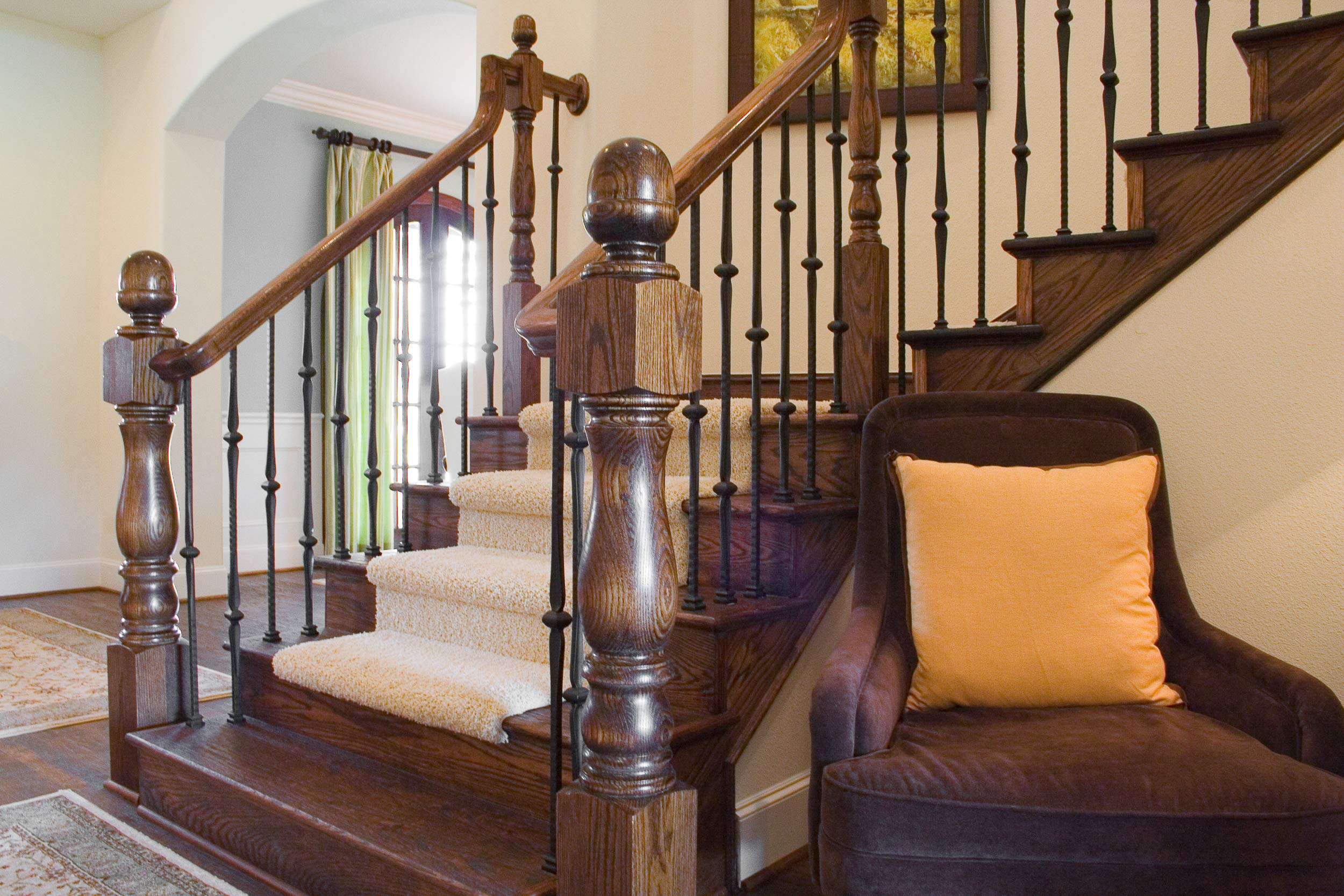 Red Oak 5160 3-1/4 x 54 inch Traditional Style Wood Newel Post for Stair Remodeling by House of Forgings