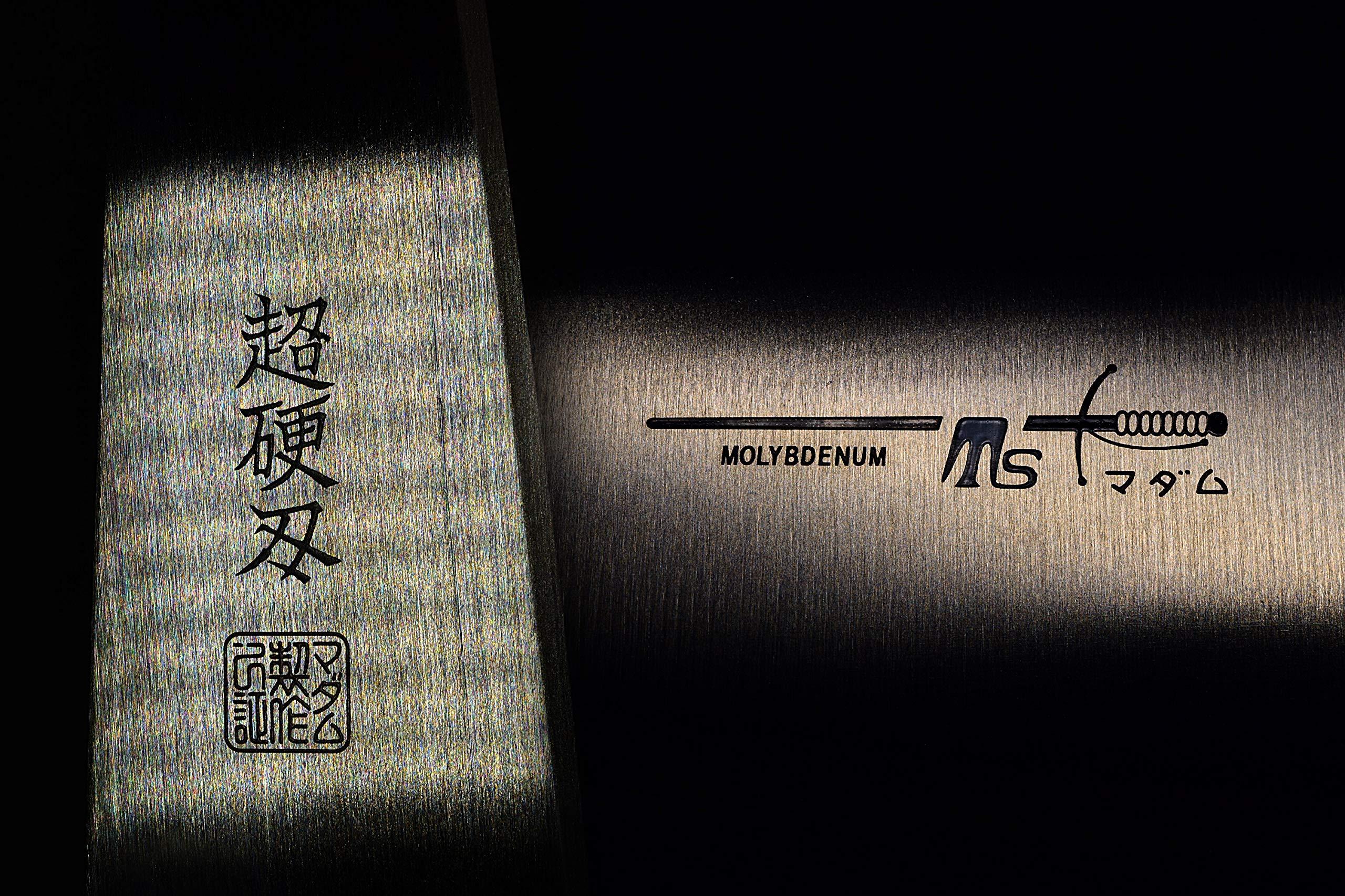 Seki Japan Sushi Chef Knife, Japanese Sashimi Deba knife, AUS-8 High Carbon Stainless Steel, Straight Edge Stamped Knife, 5.3 inch (135mm) by seki japan (Image #5)