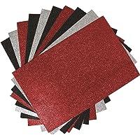 Craftime AC0123R Colour Connection - Fogli di carta glitterata, colori assortiti