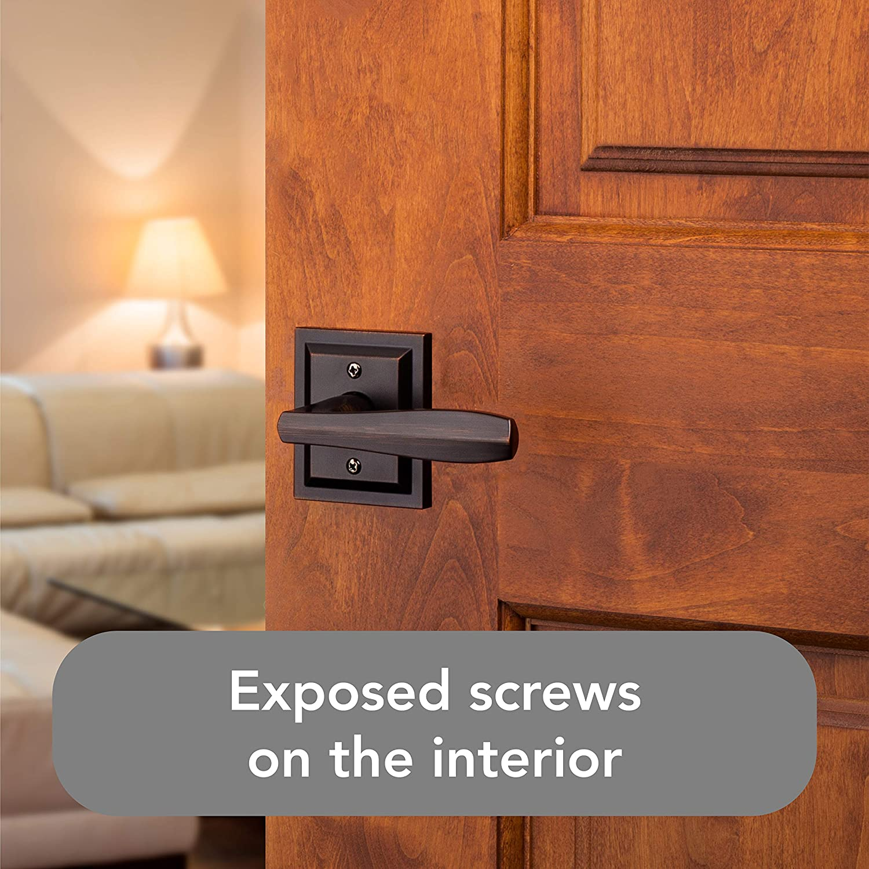 Prestige Series with a Modern Contemporary Slim Design for Interior Doors Baldwin Torrey Pines Passage Lever for Hall or Closet Door Handle in Venetian Bronze