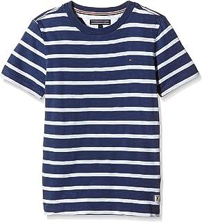 Tommy Hilfiger Jungen T-Shirt Bicolor Stripe CN Tee S/S T.H. Deutschland GmbH KB0KB01999
