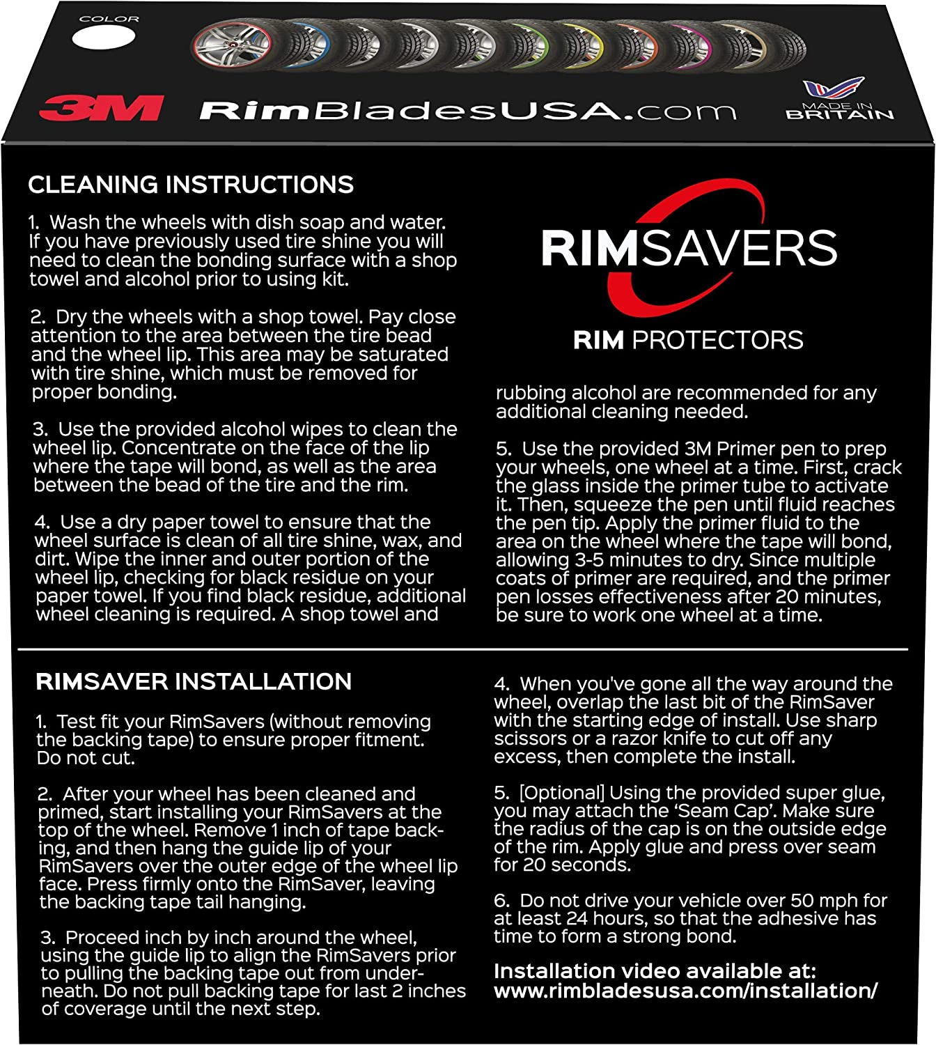 RimSavers RimBladesUSA w 1 Year Warranty Green