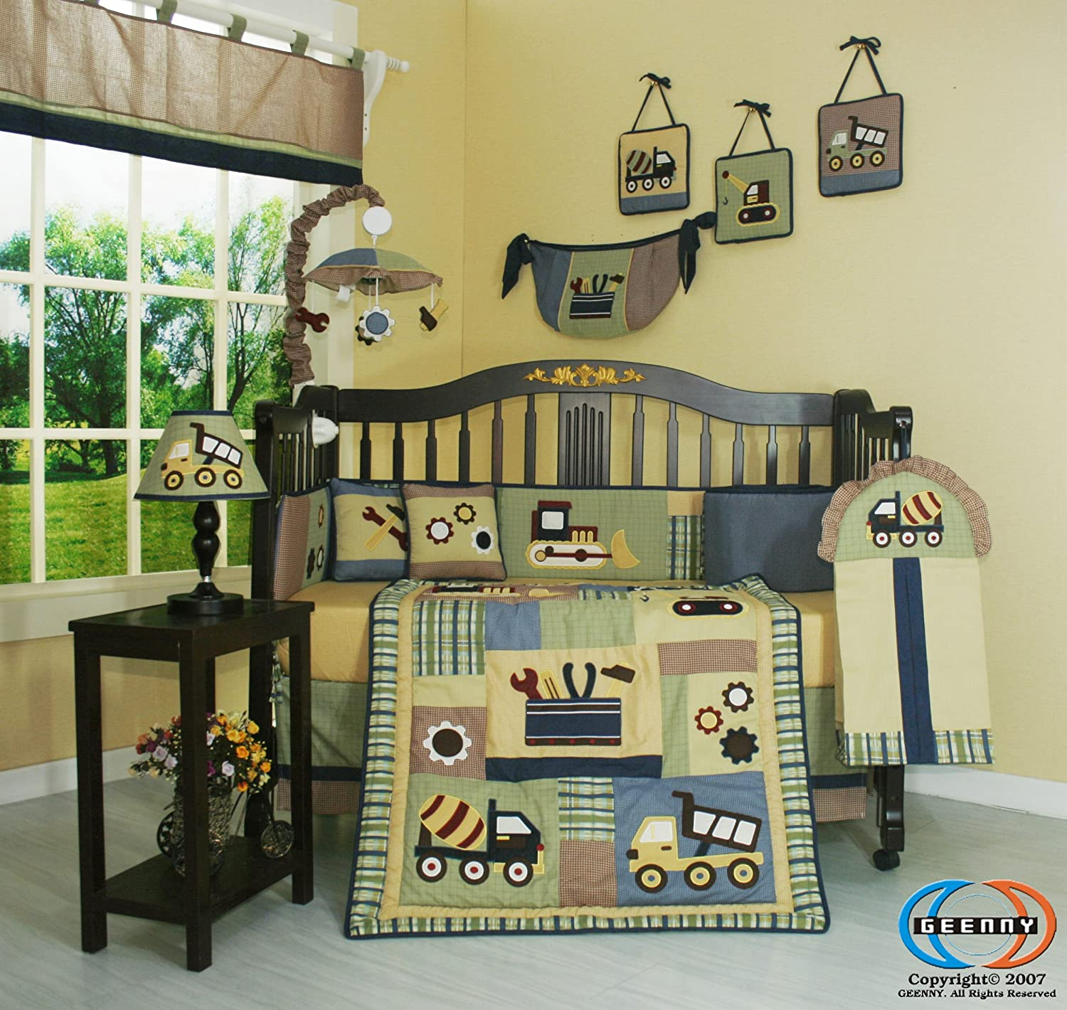 Amazoncom GEENNY Musical Mobile Baby Boy Constructor Nursery
