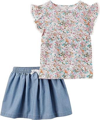 Carters Girls 2T-8 Floral Skort